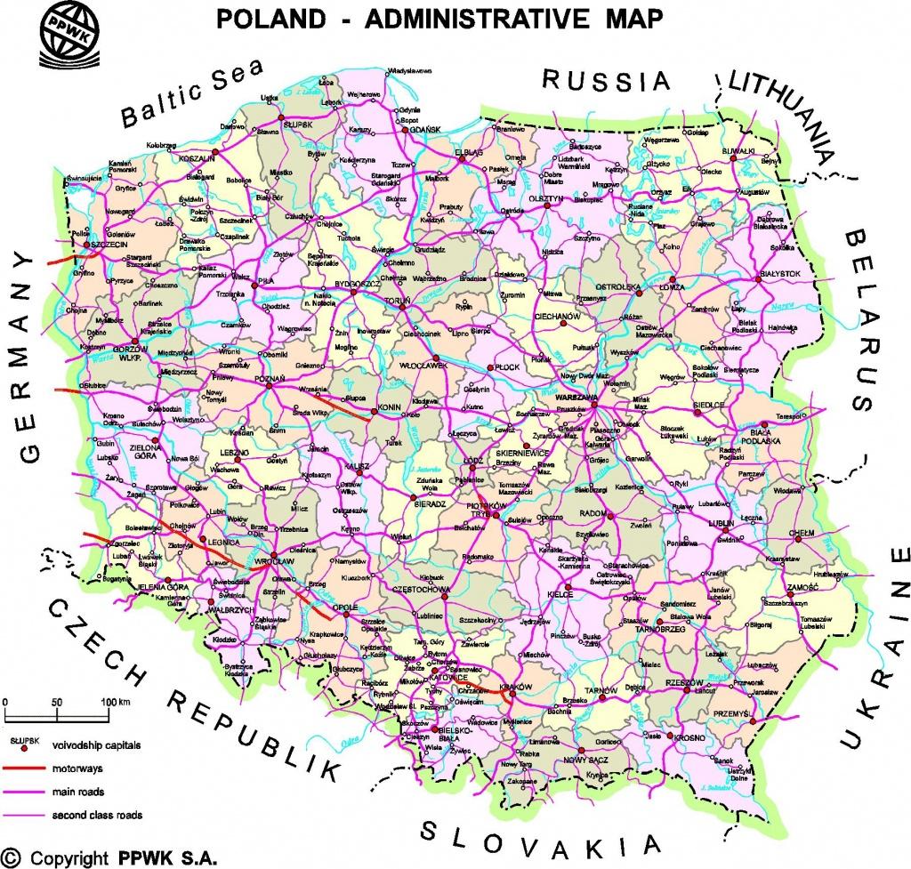 Poland Maps | Printable Maps Of Poland For Download - Printable Map Of Poland