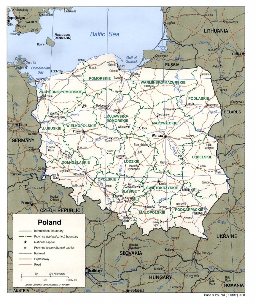 Poland Maps | Printable Maps Of Poland For Download - Printable Map Of Poland