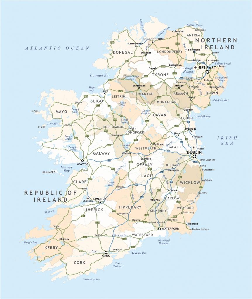 Political Map Of Ireland - Royalty Free Editable Vector - Maproom - Free Printable Map Of Ireland