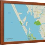 Political Map Of Manasota Key, Fl Framed Print Wall Art   Walmart   Manasota Key Florida Map
