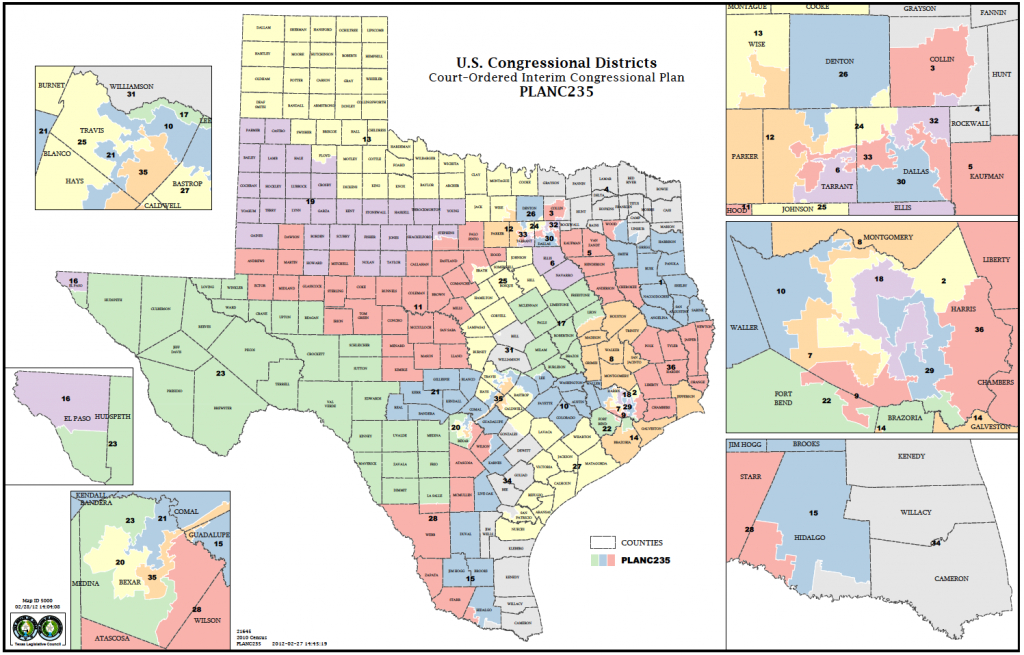 Political Participation: How Do We Choose Our Representatives - Texas State Representatives District Map