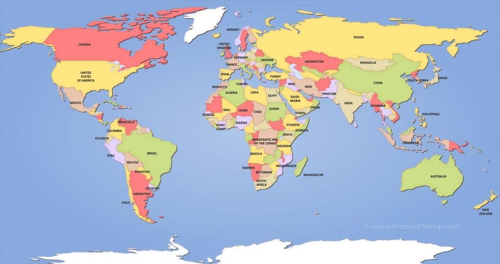Political World Maps - Free Printable Political World Map