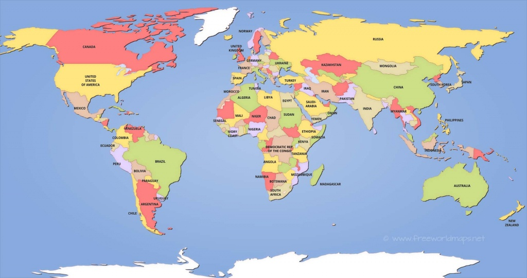 Political World Maps - World Political Map Printable