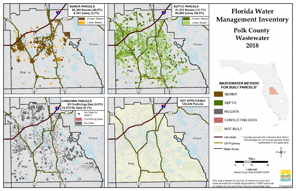 Polk Florida Water Management Inventory Summary | Florida Department - Polk County Florida Parcel Map