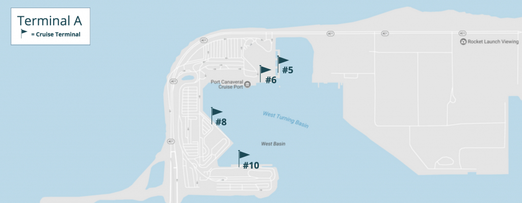 Port Canaveral Cruise Terminal Information Guide - Map Of Carnival Cruise Ports In Florida