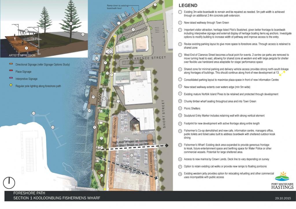 Port Macquarie Town Centre - Port Macquarie-Hastings Council - Printable Street Map Of Port Macquarie