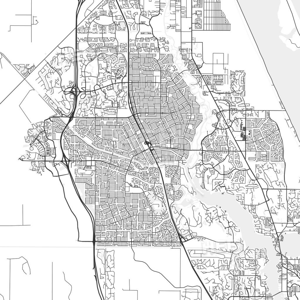 Port St. Lucie, Florida - Area Map - Light | Hebstreits Sketches - Map Of Florida With Port St Lucie