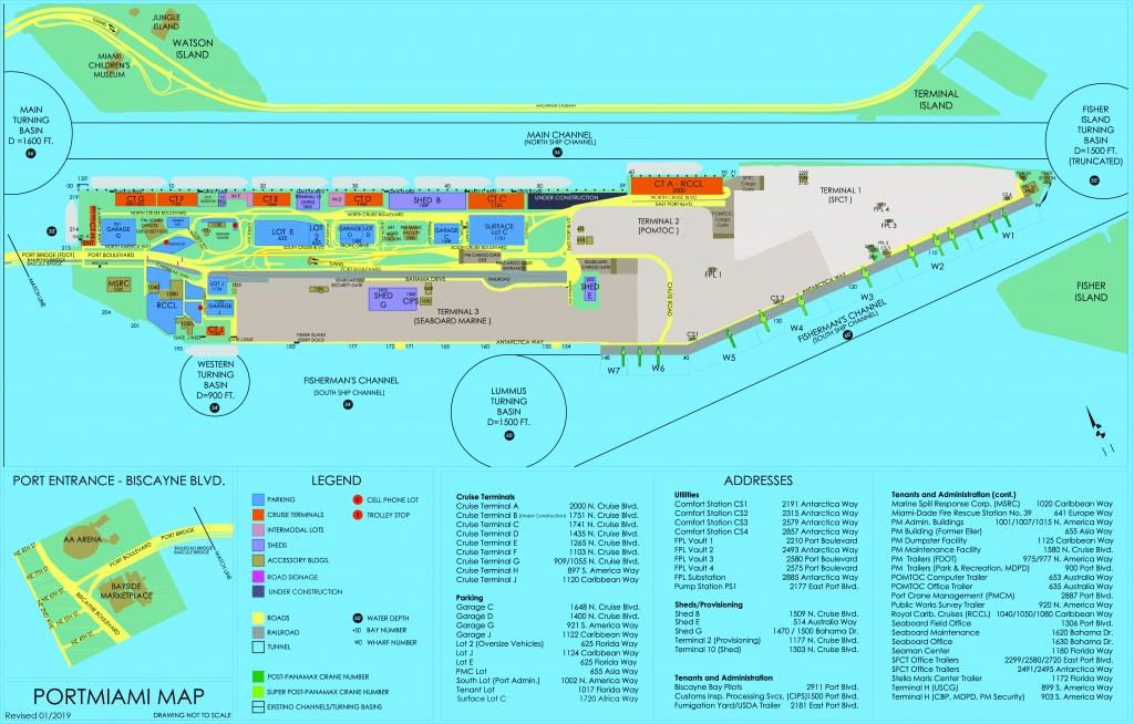 Portmiami - Cruise Terminals - Miami-Dade County - Map Of Cruise Ports In Florida