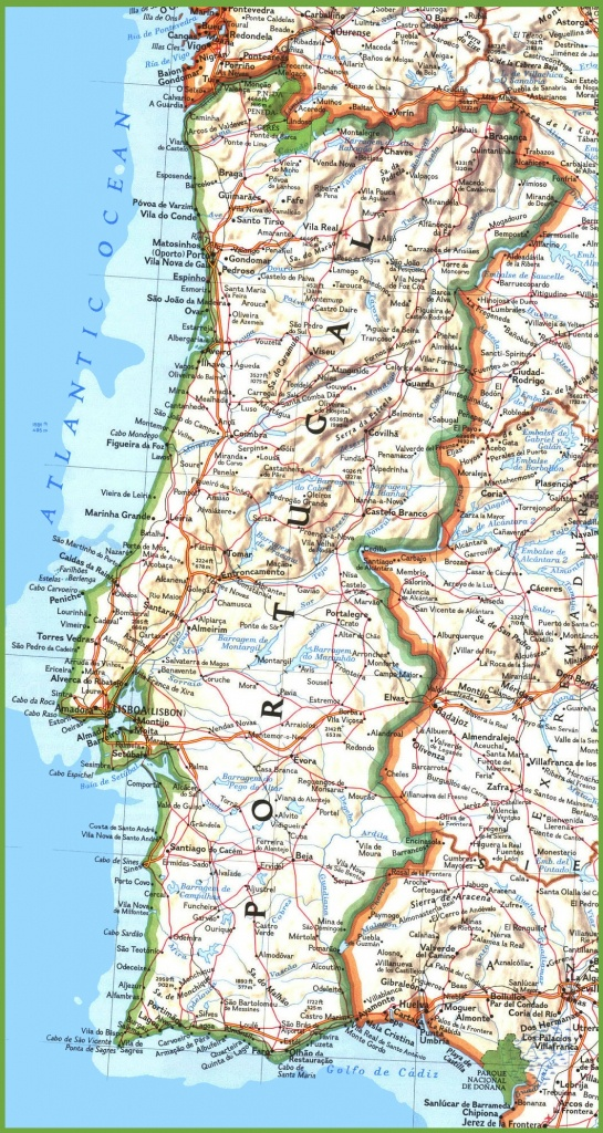 Portugal Road Map - Printable Map Of Portugal