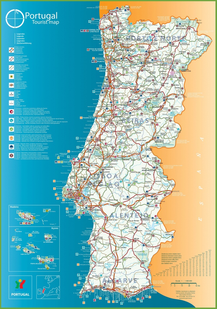 Printable Map Of Portugal
