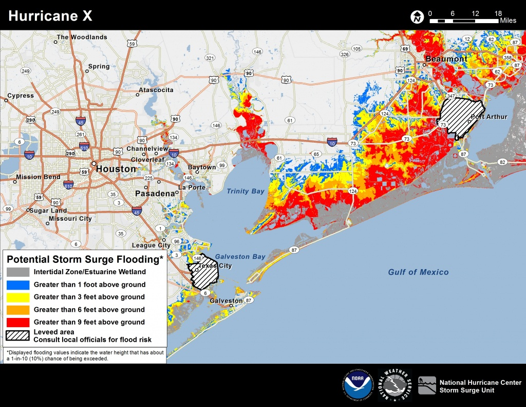 Potential Storm Surge Flooding Map - Florida Hurricane Damage Map