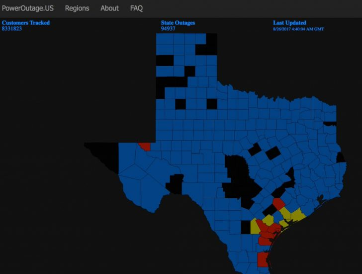 Power Outage Map Texas