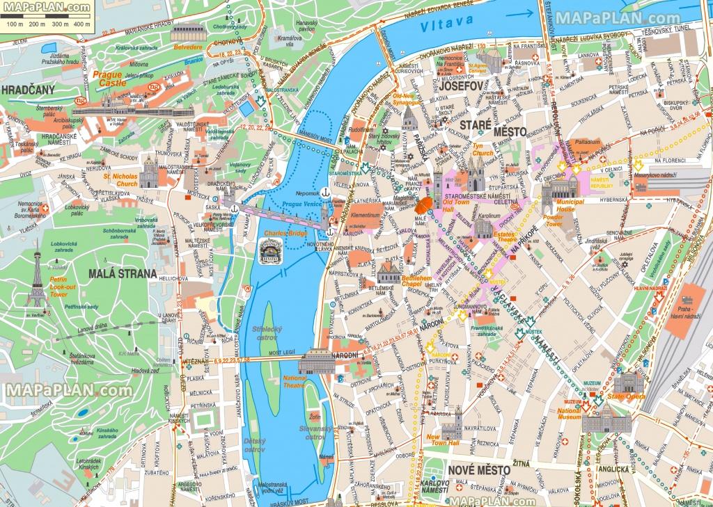 Prague Maps - Top Tourist Attractions - Free, Printable City Street Map - Printable Map Of Prague