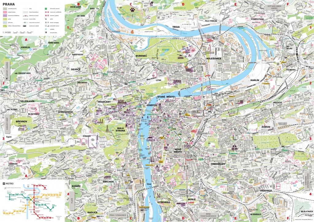 Prague Tourist Map - Printable Map Of Prague