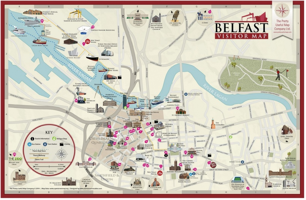 Pretty Useful Map Co.   Beautifully Illustrated Map Guides – Belfast Map - Belfast City Centre Map Printable