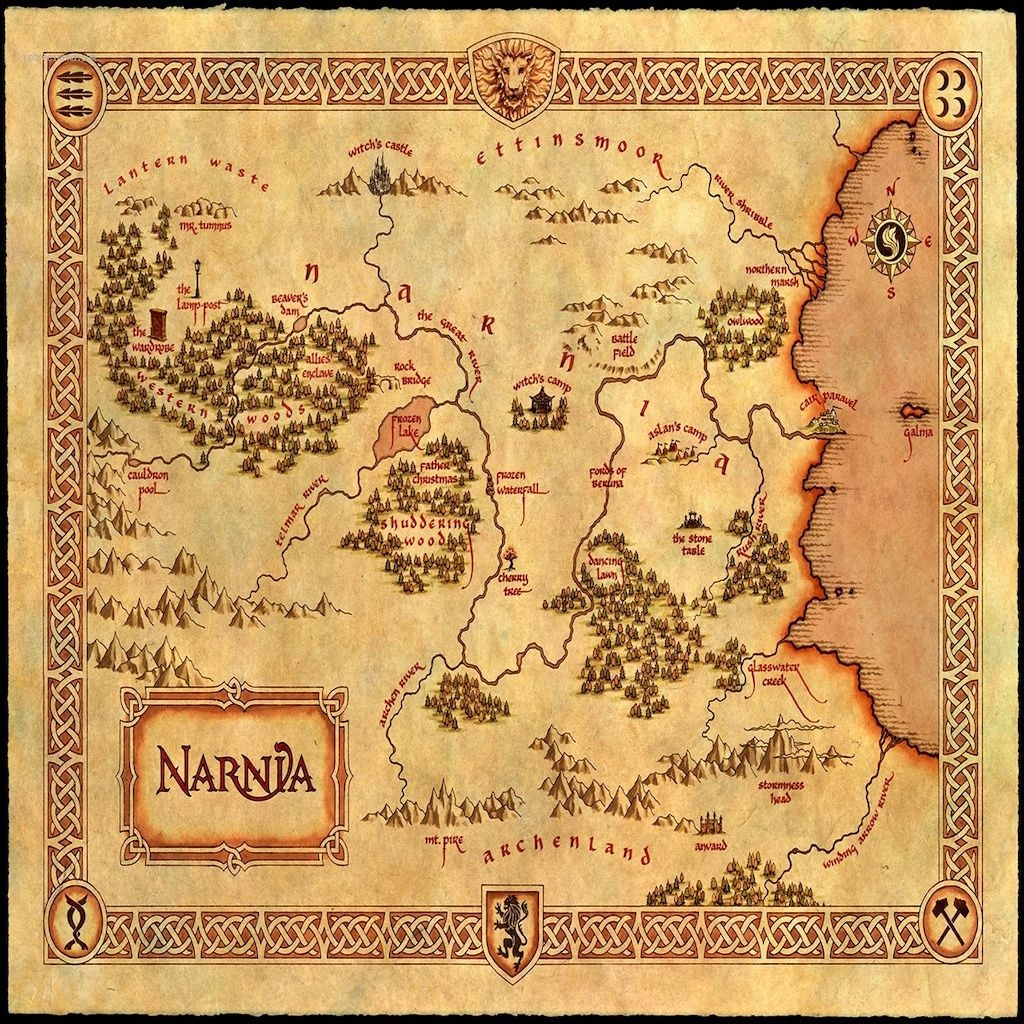 Print This Onto A Pillow | Diys, How To's, And Craft Ideas | Map Of - Printable Map Of Narnia