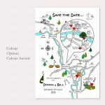 Print Your Own Colour Wedding Or Party Illustrated Map   How To Create A Printable Map For A Wedding Invitation