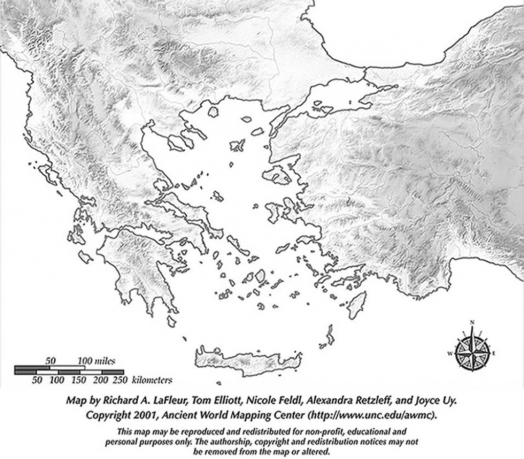 Printable Blank Map - Greece & The Aegean Iv - Ancient Greek History - Map Of Ancient Greece Printable