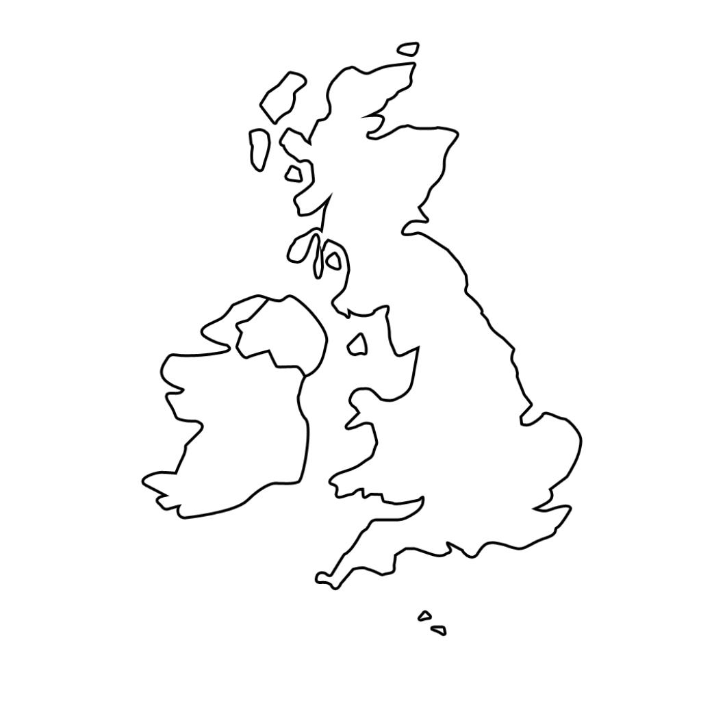 Printable Blank Map Of The Uk - Free Printable Maps - Blank Map Of Scotland Printable