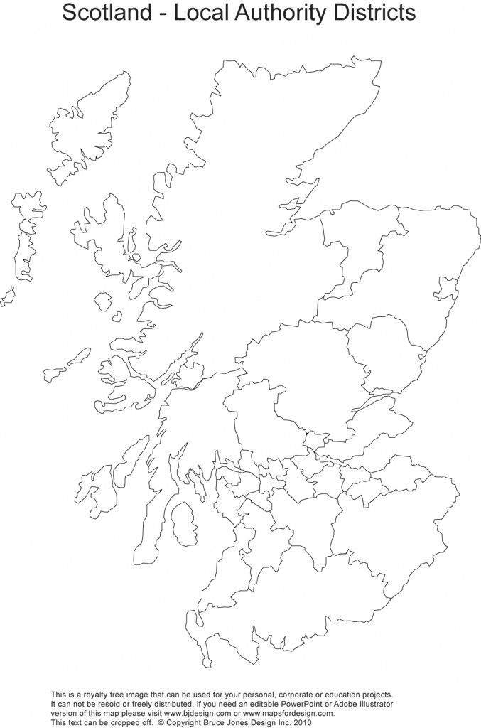 Printable, Blank Uk, United Kingdom Outline Maps • Royalty Free - Blank Map Of Scotland Printable