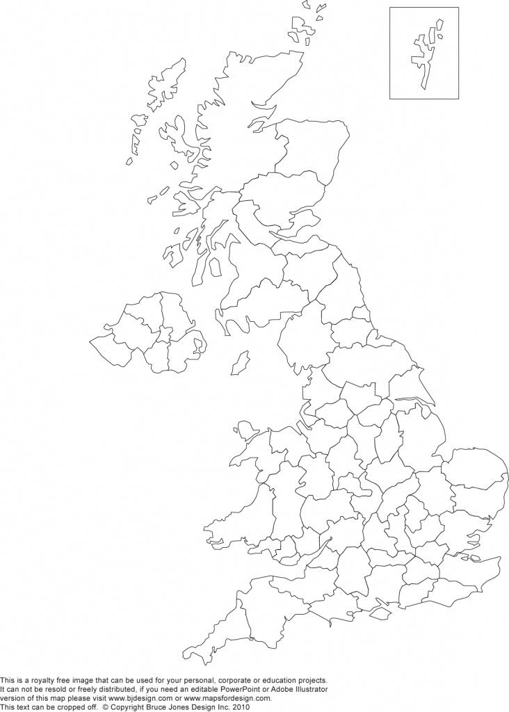 Printable, Blank Uk, United Kingdom Outline Maps • Royalty Free - Printable Map Of Britain