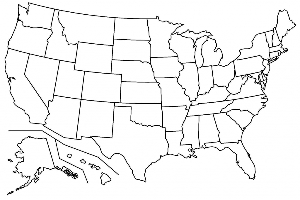 Printable Blank Us State Map New United States Outline Map High - Printable Blank Us Map With State Outlines