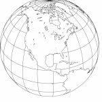 Printable, Blank, World Globe Earth Maps • Royalty Free, Jpg   Printable Earth Map