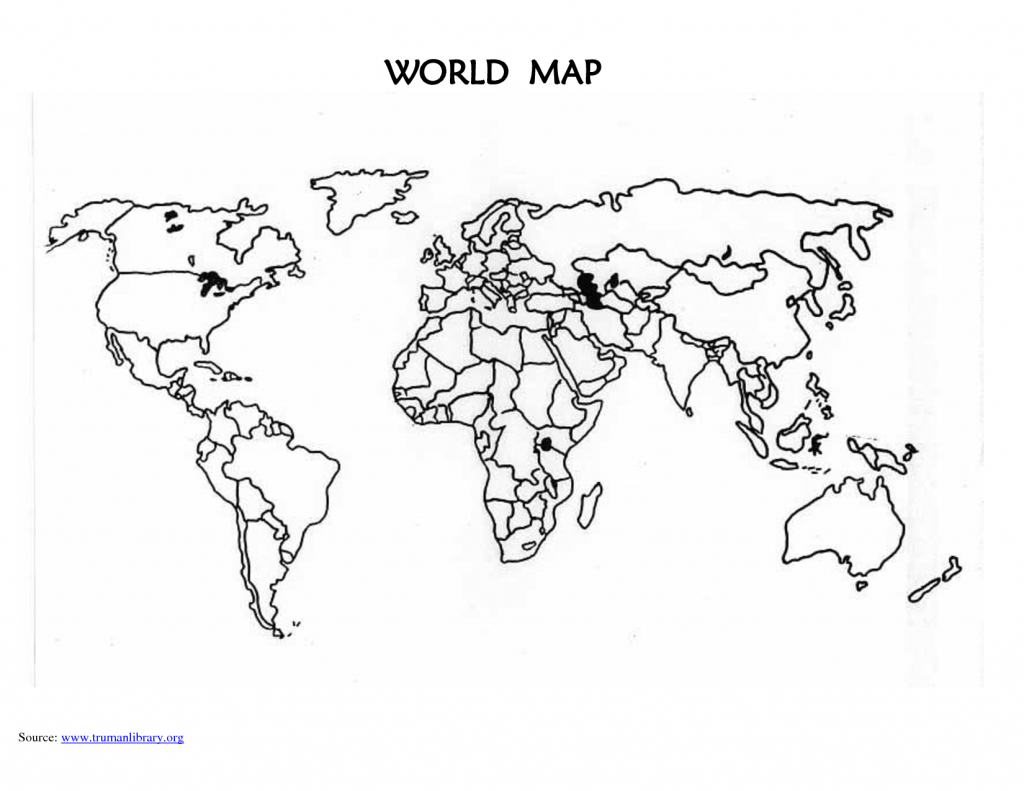 Printable Blank World Map Countries | Design Ideas | Blank World Map - World Map Test Printable