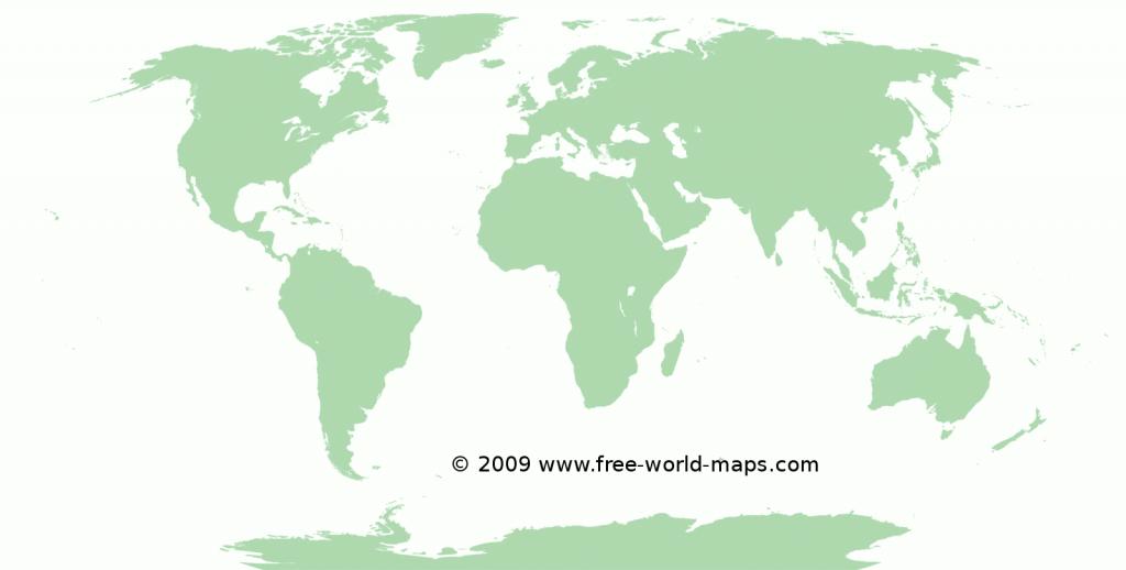 Printable Blank World Maps | Free World Maps - Printable World Map No Labels