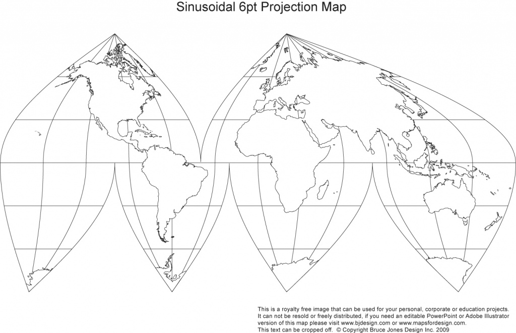 Printable, Blank World Outline Maps • Royalty Free • Globe, Earth - Flat Map Of World Printable