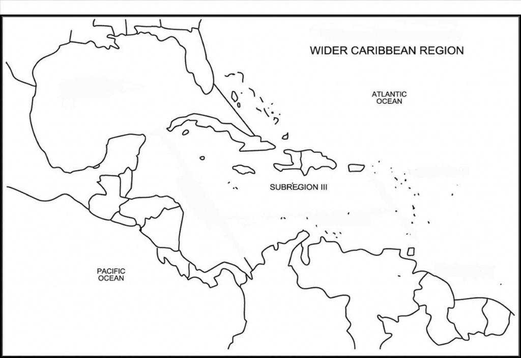 Printable Caribbean Islands Blank Map Diagram Of Central America And - Maps Of Caribbean Islands Printable