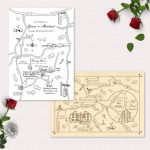Printable Custom Map Wedding Invitation, Save The Date Or Info Card | Party  Map | Travel | Invitation Map | Wedding Directions | Digital   How To Create A Printable Map For A Wedding Invitation