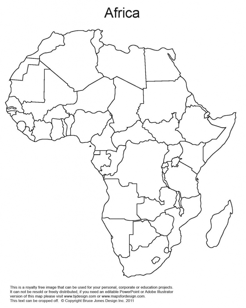 Printable Map Of Africa   Africa World Regional Blank Printable Map - Free Printable Political Map Of Africa
