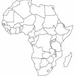Printable Map Of Africa | Africa World Regional Blank Printable Map   Printable Map Of Africa