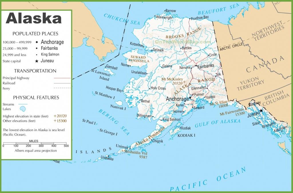 Printable Map Of Alaska And Travel Information   Download Free - Alaska State Map Printable