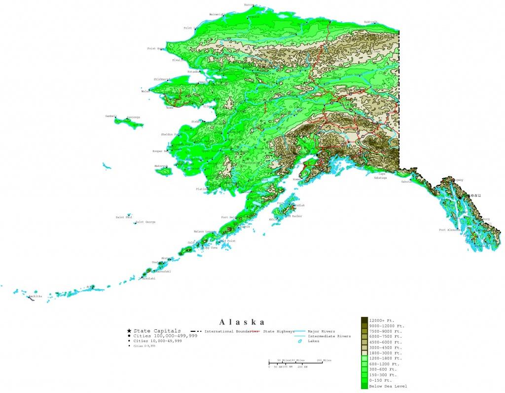 Printable Map Of Alaska And Travel Information | Download Free - Free Printable Map Of Alaska