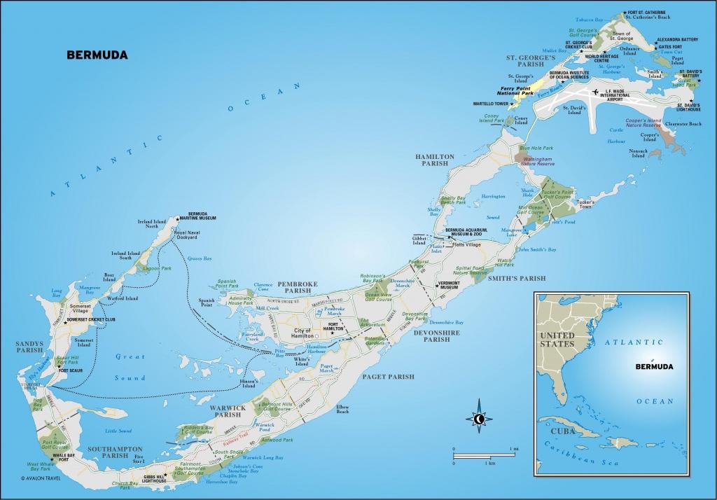 Printable Map Of Bermuda   Map Of Bermuda. Free Download Large - Printable Map Of Bermuda