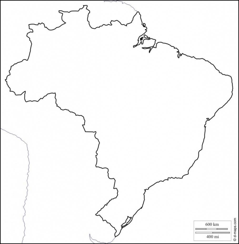 Printable Map Of Brazil - Free Printable Map Of Brazil (South - Printable Map Of Brazil