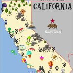 Printable Map Of California For Kids The Ultimate Road Trip Map Of   California Map For Kids