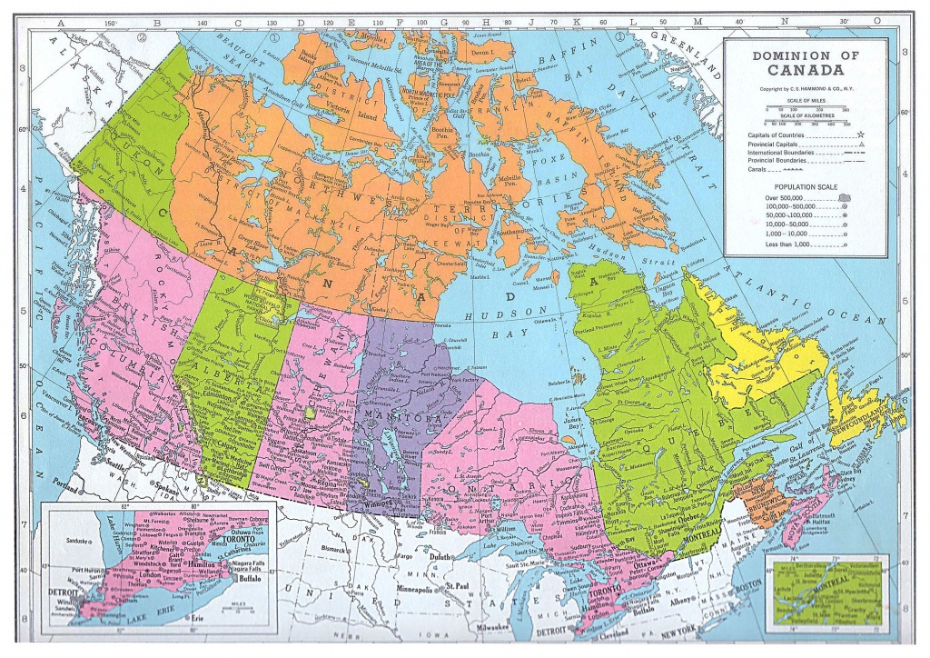 Printable Map Of Canada And Travel Information   Download Free - Free Printable Map Of Canada For Kids