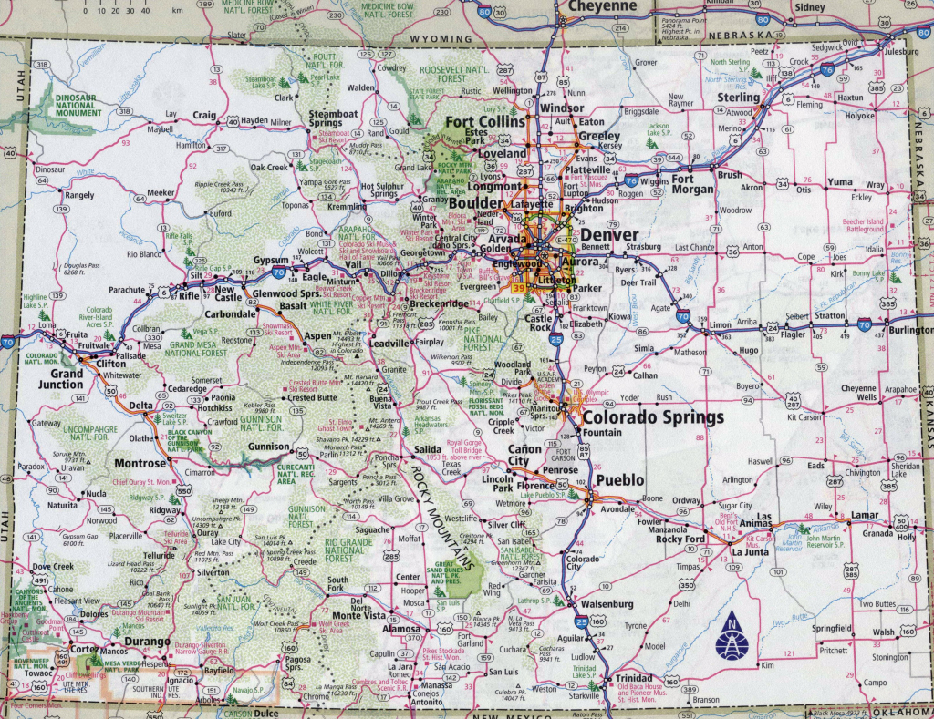 Printable Map Of Colorado (72+ Images In Collection) Page 1 - Printable Map Of Colorado