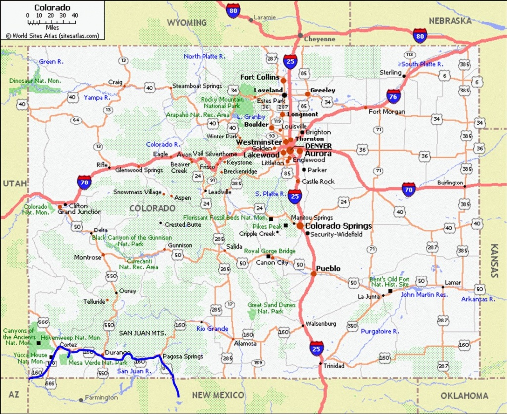 Printable Map Of Colorado Cities And Towns   D1Softball - Printable Map Of Colorado Cities