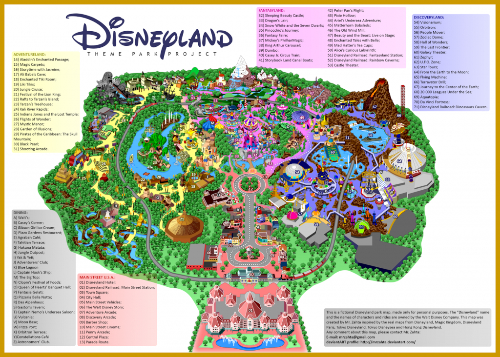 Printable Map Of Disneyland Paris Park Hotels And Surrounding Area Pdf - Printable Disneyland Park Map