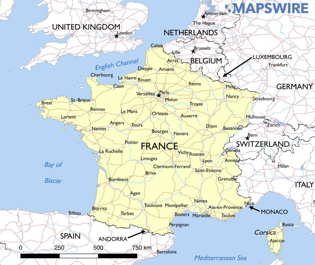 Printable Map Of France With Cities And Towns – Orek - Printable Map Of France With Cities And Towns