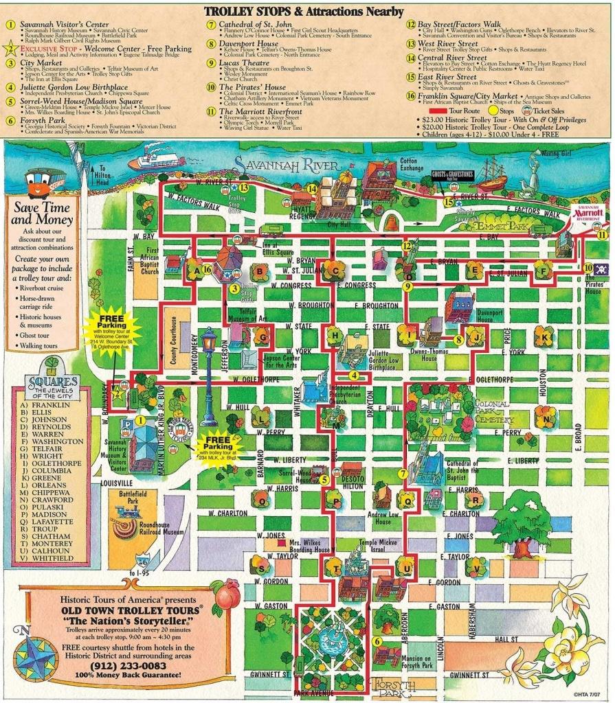 Printable Map Of Historic Savannah   Reasons Why Savannah Is The - Printable Map Of Savannah Ga