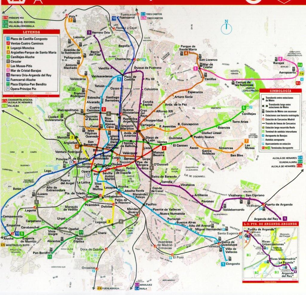 Printable Map Of Madrid | City Maps - Madrid City Map Printable