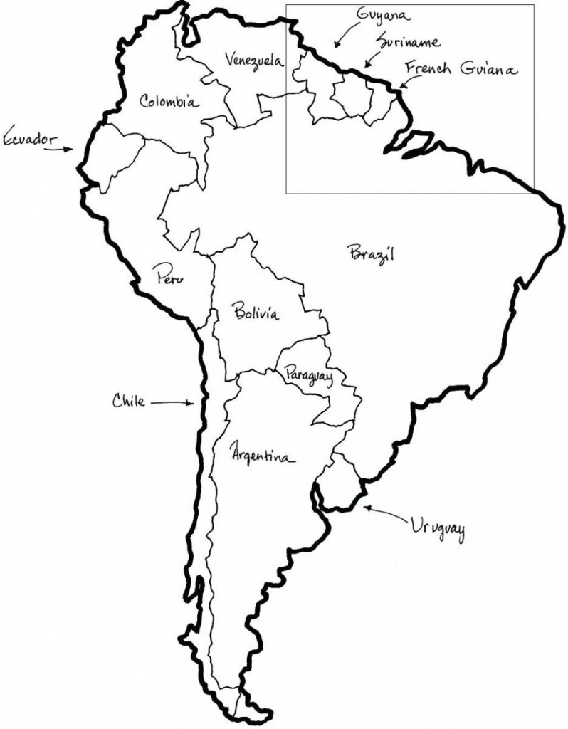 Printable Map Of North And South America And Travel Information - Free Printable Map Of South America