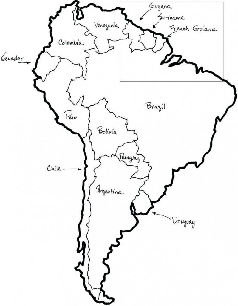 Free Printable Map Of South America | Printable Maps