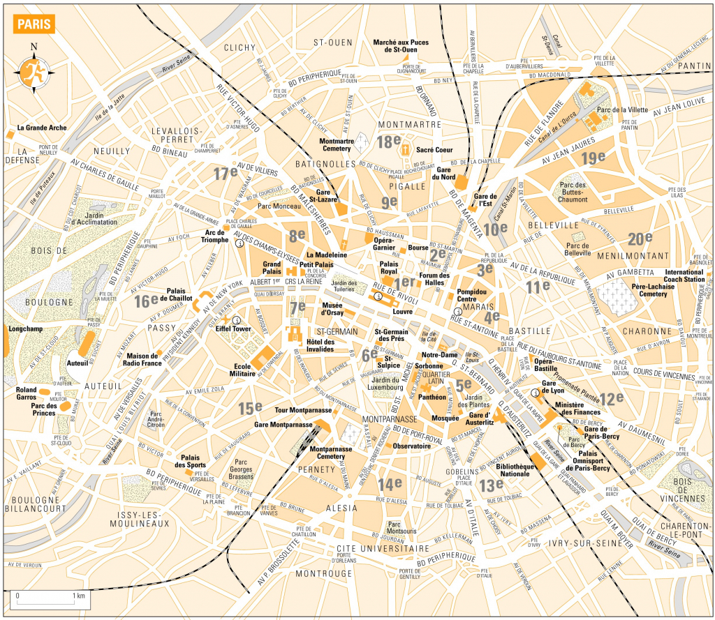 Printable Map Of Paris France | D1Softball - Printable Map Of Paris France