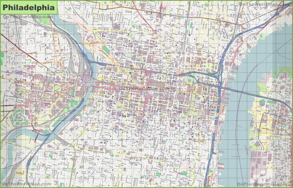 Printable Map Of Philadelphia And Travel Information   Download Free - Printable Map Of Historic Philadelphia